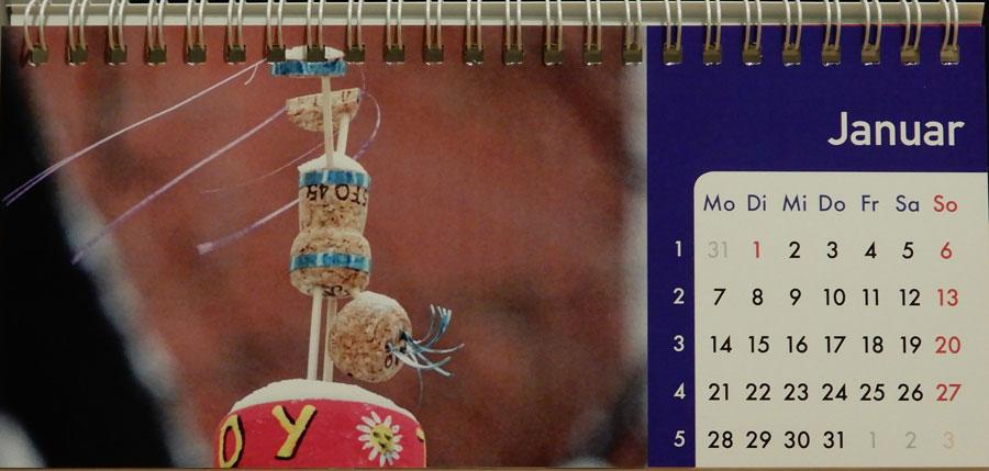 Korkmännchen Kalender 2019 Januar