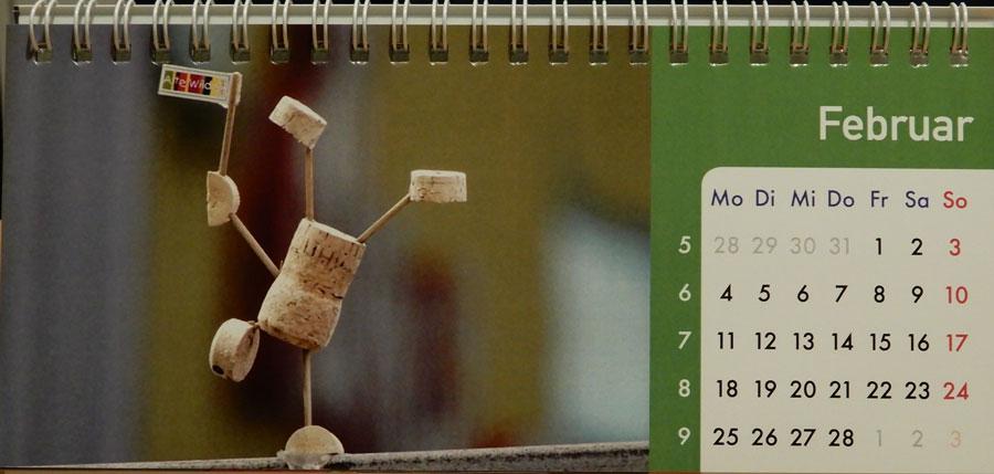 Korkmännchen Kalender 2019 Februar