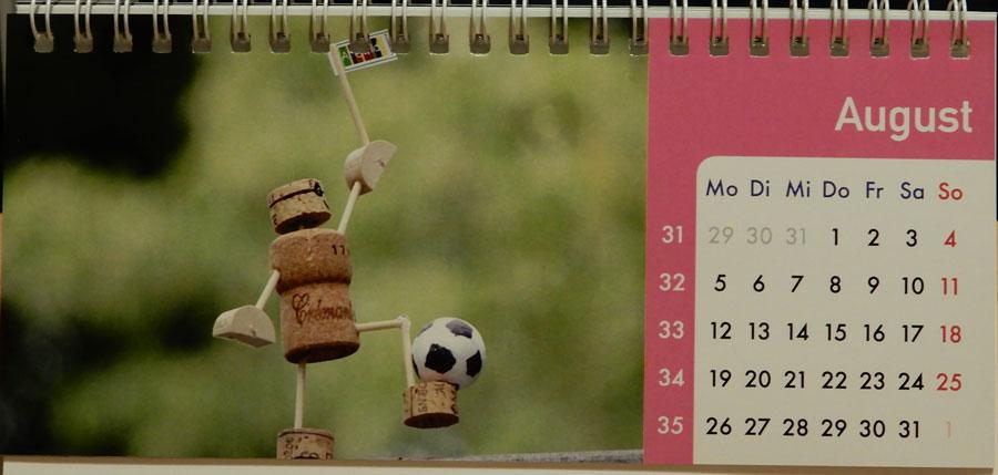 Korkmännchen Kalender 2019 August